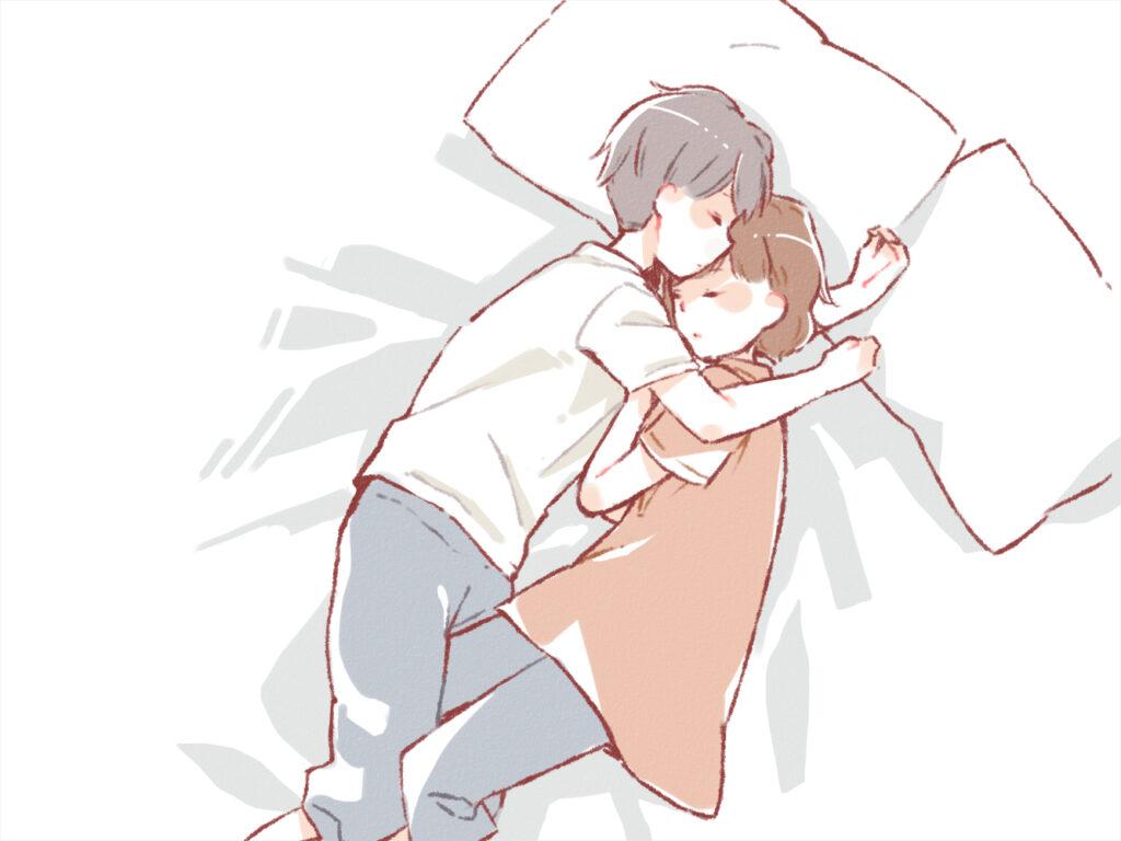 寝相 お互いが向き合う